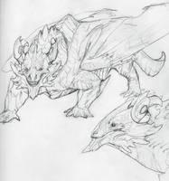 Kirn Mountain dragon by OddOsprey