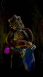 Krueger Englund - Hazed Lineart ( A Freddy Hug ) by usadragonroar