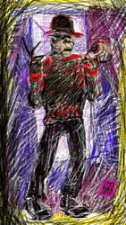 Freddy Krueger Robert Englund - Sketchy by usadragonroar