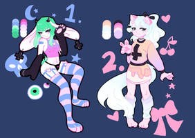 pastel goth adopts! || ONLY ONE LEFT!! by veori-draws