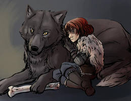 rickon and shaggy by thecommanders