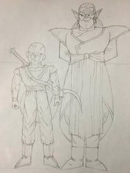 Froze and Kibito (Sketch) by DBZGargoylesFan800