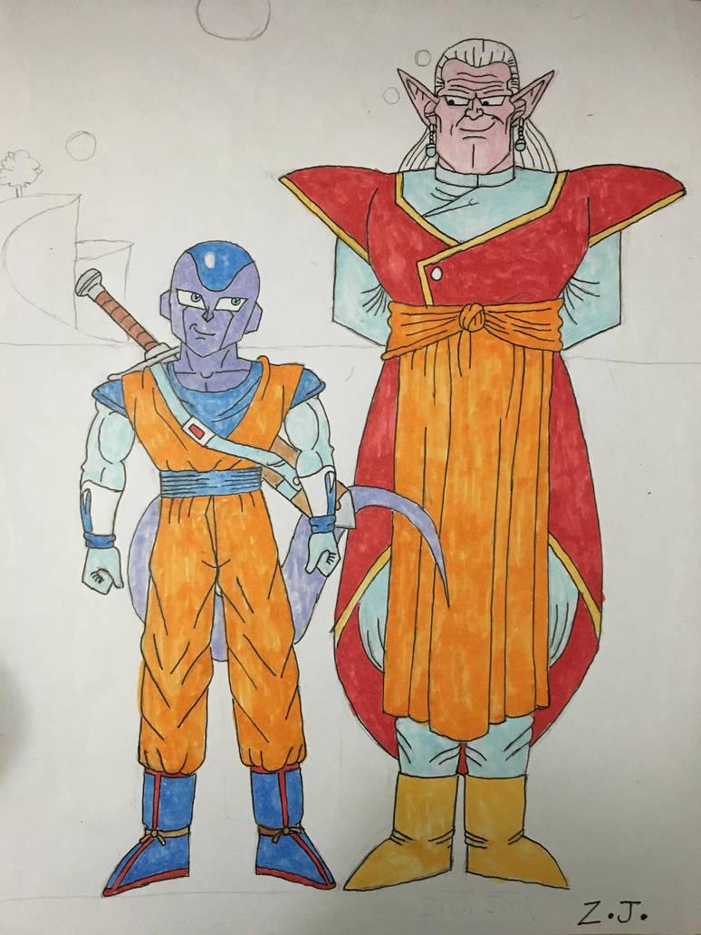 Froze and Kibito(Sketch Colored) by DBZGargoylesFan800