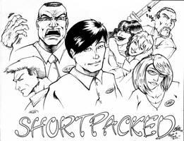 Shortpacked cast by Inker-guy