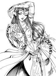 Zelda by Inker-guy