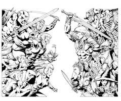 Thundercats vs Masters by Inker-guy