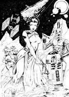 Leia and co. by Inker-guy