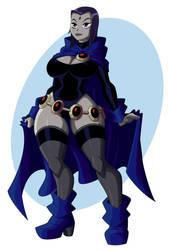 Raven bimbofied by JustAnotherRavenFan