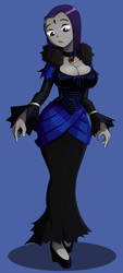 Raven in a dress by JustAnotherRavenFan