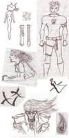 Random doodles by Isensmith