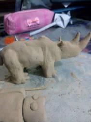 Rhino sculpture (Pose2) by EragonShadeSlayers