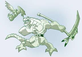 Akkan and Pinsheel by chief-orc
