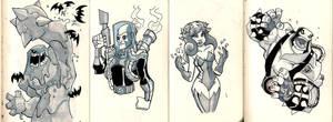 Moleskine: Gotham baddies by chief-orc