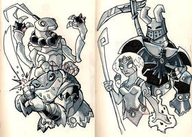 Moleskine: High level heroes by chief-orc