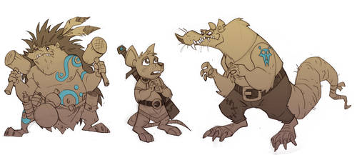 Redwall doodles by chief-orc