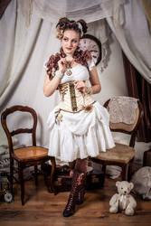 ~Steampunk Lolita Vibes in white~ by rufflesandsteam