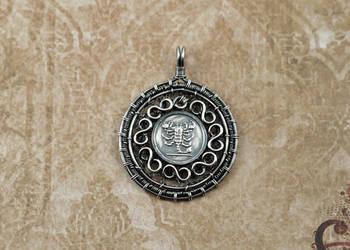 Sterling Silver Scorpion Medallion by FreiaInguz