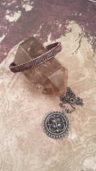 Woven Bangle and Pendant by FreiaInguz