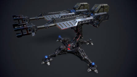 SCI-FI Turret Gun by s1dK