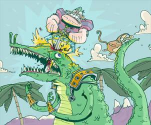 stab stab crocodile by mrdynamite