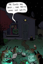 foxes by mrdynamite