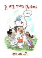 christmas cats by mrdynamite