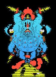 Demon Squid God by mrdynamite