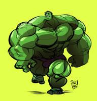Buff-Ass Hulk by ItsTalegas