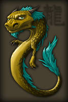 Chinese dragon by Qedr