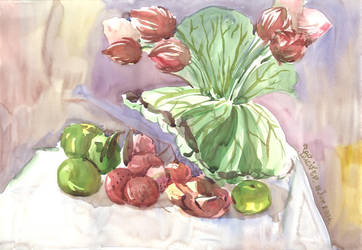 Still Life No1 by water color by Lucifer-Michael