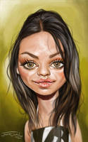 MILA KUNIS by JaumeCullell