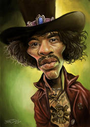 JIMI HENDRIX by JaumeCullell