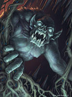 Cave Monster by joelhustak