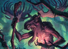 Moose Shaman by joelhustak