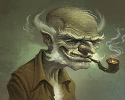 Old Man Goblin by joelhustak
