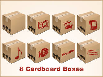 Cardboard Box Icons free psd and png by pixtea