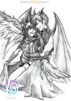 Commission - Jetsura and Kaito by KGxspace