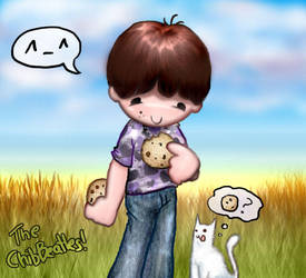 ChibBeatles Paulie and cookies by apartment42b