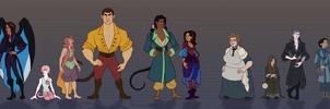 Blakmire Fire Characters by Vivocateur
