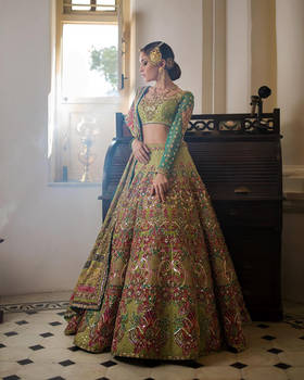 6 Lehenga Colors We All Are Crushing On by eshaalfatima