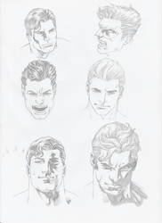 studying the style of Ivan Reis by Fernando-Damasio