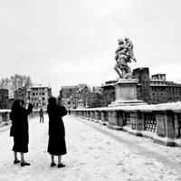Snow in Rome by minotauro9