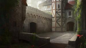 Castle yard concept by katya-gudkina