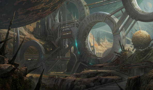 Old planet colony by katya-gudkina
