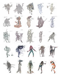 Daily characters by katya-gudkina