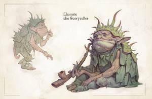 Goblin. Storyteller by katya-gudkina