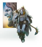 Valli - Barbarian character art by katya-gudkina