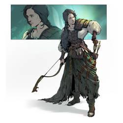 Gitanna - Archer character art. by katya-gudkina