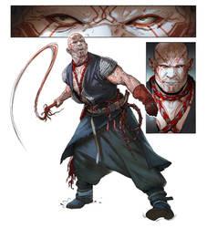 Gilroy - Berserker character art by katya-gudkina