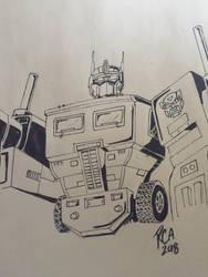 Optimus Prime sketch by robertamaya